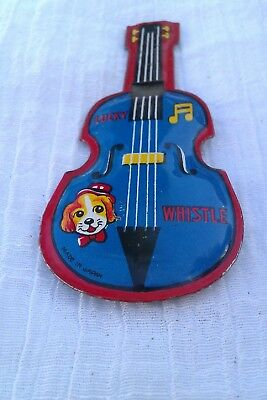 1960's Vintage Japan TIN TOY Whistle.LUCKY toys.Lithograph 100%.great sound.