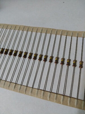 100pcs 100K Ohm Carbon Film Resistor 1/4W .25W 5%