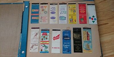 1960's - 1970's MATCH BOOK COVER COLLECTION OVER 250
