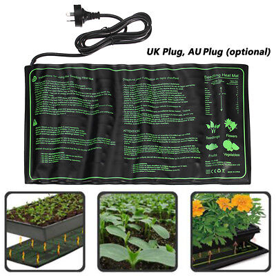 Seedling Heat Mat Hydroponic Seed Reptile Plant Heating Pad W/ Power Waterproof