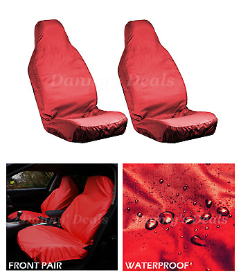 Red Front Driver Passenger Car Seat Covers Set For Nissan Qashqai 2007 - 2013