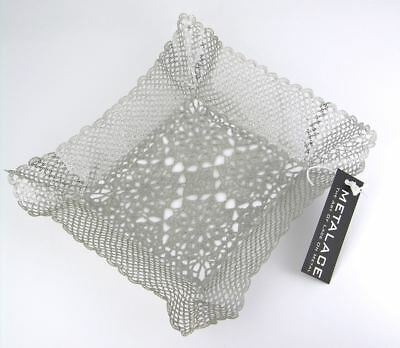 BNWT Metalace metal lace candy dish plate tray Israel
