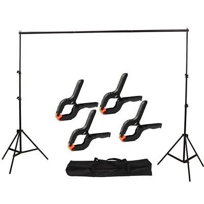 2x3m Pro Photography Backdrop Background Light Stand Aluminum Support Studio