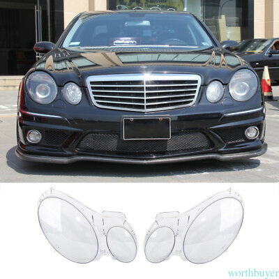 For Benz W211 E350/300/200 2002-2008 Headlight Lens Replacement Cover LH+RH wt9