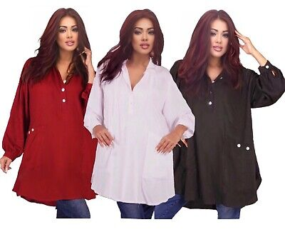 LotusTraders TOP BLOUSE BUTTON CLASSIC COLLAR MISSES TO PLUS FASHION CHIC X857