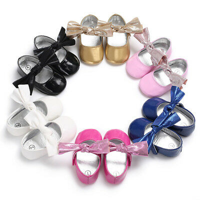 2018 Newborn Infant Baby Girl PU Leather High Bowknot Sandals Summer Pram Shoes