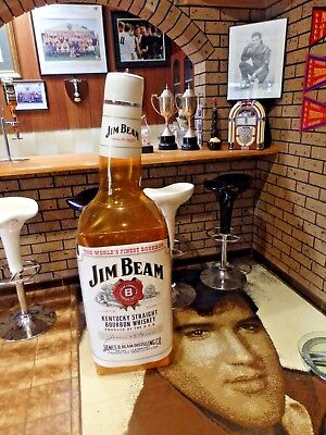 LIMITED EDITION - JIM BEAM ADVERTISING -  EXTRA LARGE 5 Foot PLASTIC BOTTLE