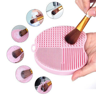 Silicone Makeup Brush Cleaner Cosmetic Scrubber Board Mat Pad NEW Hand Tool