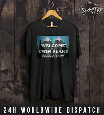 Twin Peaks Population 51.201 T Shirt Logo Agent Dale Cooper Gift David Lynch
