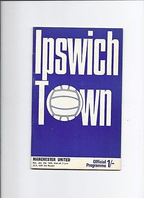 Ipswich Town v Manchester United 3 January 1970 FA Cup 3rd Round