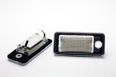 2x LED NUMBER PLATE LIGHTS AUDI A6 C6 S6 4F AVANT CANBUS