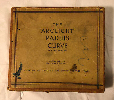 Vintage Arclight Radius Curve - Drafting Architect Drawing Template