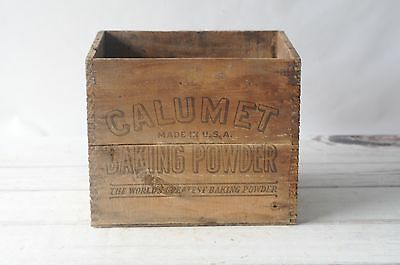 Vintage Wooden Calumet Baking Powder Wood Shipping Crate Chicago Ill