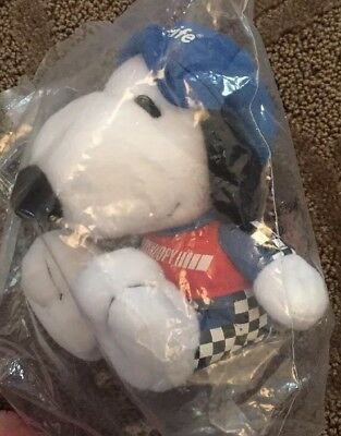NEW - Peanuts Met Life Plush Snoopy Dog 4.5 Inches Race Car Driver