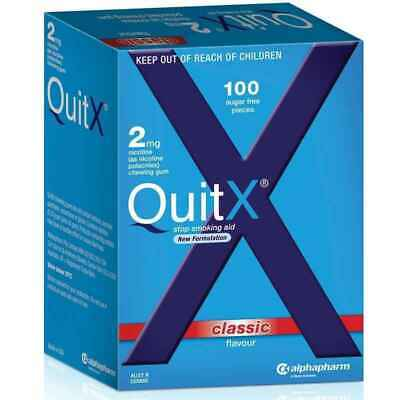QuitX Gum 2mg Classic Flavour 100 Pack