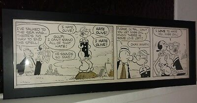 Popeye daily strip original art Bud Sagendotf November 13, 1968