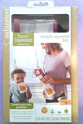 Infantino Fresh Squeezed Simple Squeeze Kit Create Your Own Baby Food Pouches