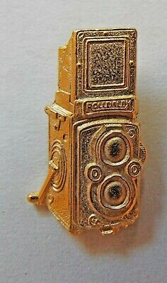 Rolleiflex Camera Tie Tack Gold Plated Free Shipping In Usa