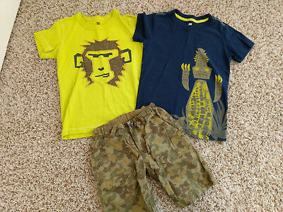 Boys Tea Collection monkey crocodile shirts and short set size 6 7