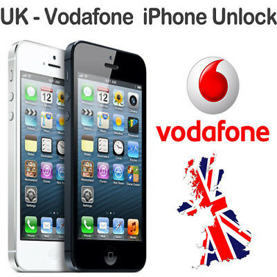 Vodafone UK UNLOCK SERVICE for Apple iPhone 4/4S/5/5S/5C/SE/6/6+/6S+/7/7+/8/8+/X
