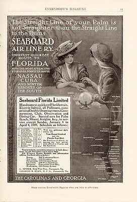 10 Full Page Seaboard Air Line Railway Ads-1902,3,4,5,6 & 1909