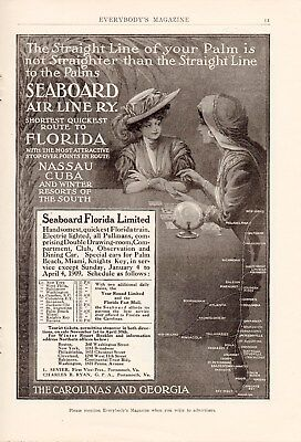 11 Full Page Seaboard Air Line Railway Ads-1902,3,4,5,6 & 1909