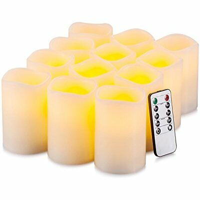 Flameless Candles Battery Operated LED Pillar Real Wax Flickering Electric With