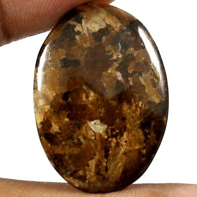24.10cts Natural Awsome Quality Peter Jade Bronzite Gemstone Oval Loose Cabochon