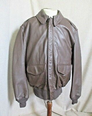 Cooper Type A-2 USAF Men's Made In USA Leather Bomber Flight Jacket Coat  42 L