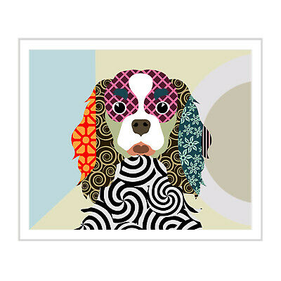 Cavalier King Charles Spaniel Dog Print Puppy Canine Portrait Doggy Painting