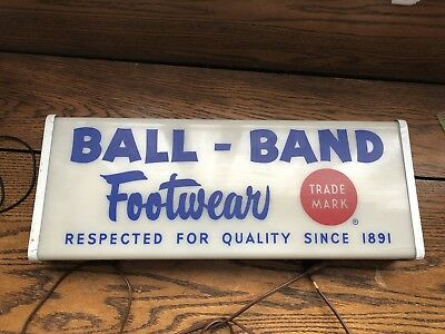 Rare 1950s Ball Brand Footwear Advertising Neon Sign. Red Ball Jets