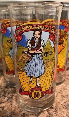 Vintage The Wizard Of Oz Collectable Dorothy Glass 50th Anniversary - Krystal's
