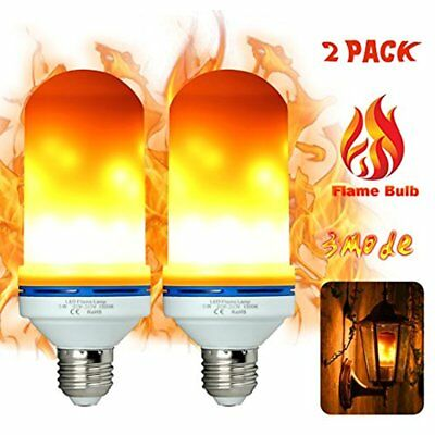 LED Flame Light Bulbs Fire Flicker Effect Lamp 3 Mode Decorative Flickering 5W