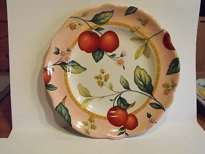 """HTF! PRINCESS HOUSE Exclusive """"FRUIT ON THE VINE"""" LUNCHEON PLATES 9"""" APPLES"""