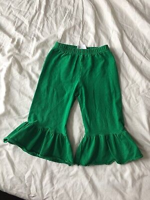 Adorable Essentials 2t Single Ruffle Pants St Patricks Day Green