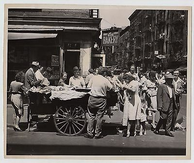 NAT FEIN * RIVINGTON & ORCHARD ST. Lower East Side NYC Iconic VINTAGE 1946 photo
