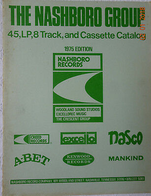 The Nashboro Group, 45, LP, 8 Track and Cassette Catalog, 1975 Edition,