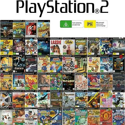Game Selection PS2 🎮🎮 FOR SONY PLAYSTATION 2 🎮🎮 Games G or PG 25/02/18