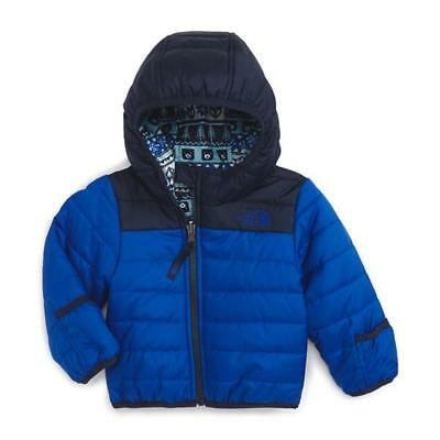 Nwt-The North Face Infant Boys Reversible Perrito Jacket 6-12 Months~Cobalt Blue