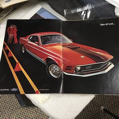 Vintage 1970 Ford Mustang Mach 1 Advertising.
