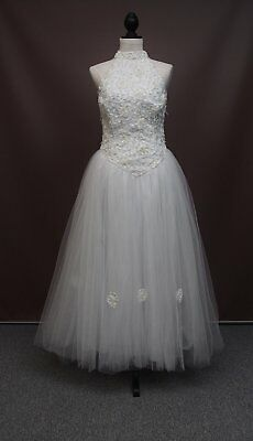 Tulle & Ribbon & Beaded Wedding Gown! Size 10