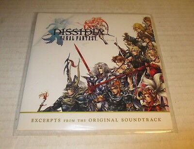 Dissidia Final Fantasy Excerpts from Original Soundtrack CD PS4 Promo