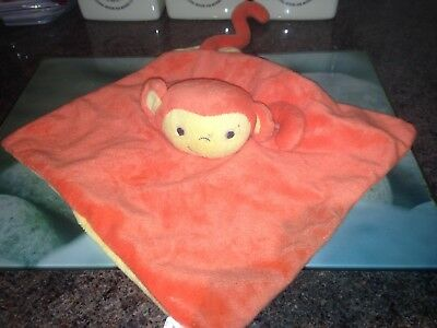 The Gro Company Orange Mikey Monkey Chimp Baby Comforter Blanket Soft Toy