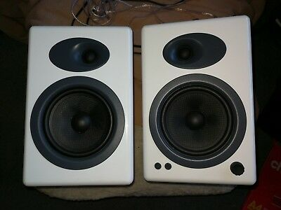 Audioengine 5+ White Bookshelf Powered Speakers (1 Pair) Used