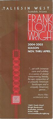 Frank Lloyd Wright Taliesin West Booklet 2004- 2005 Scotsdale Arizona