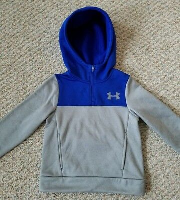 Under Armour Storm 1 NEW w/Tags Youth Gray w/Blue 1/4 Zip Hoodie Youth Size XS