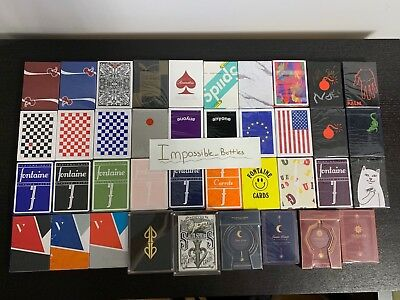 Mystery Deck Playing Cards Ellusionist Fontaine Blaine Anyone Virtuoso Dot Bloc