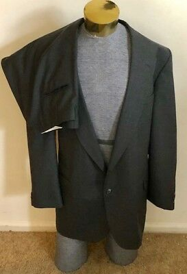 Men's BARRINGTON Wool Suit - GRAY - Big & Tall - Jacket Size 50R, Pants 42 X 30