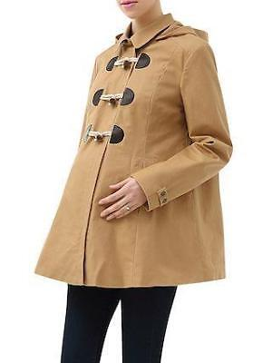 Momo Maternity Cole Hooded Toggle Coat Medium