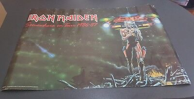 1980s Iron maiden posters